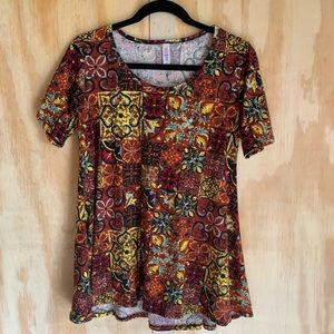 Lularoe XS Perfect tee gorgeous fall colors!